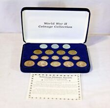 WWII American Historic Society Collection Steel Silver 17 coins