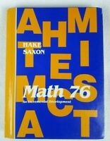 Math 76 - Second Edition - 7/6 John H. Saxon Textbook Hardcover