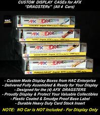 Custom Display Boxes (4) : Aurora AFX DRAGSTERs All 4 Cars     A Great Value!