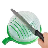 Fruit Vegetable Salad Chopper Bowl,Easy Salad Make,Fresh Salad Slicer FDA