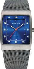 Bering Time - Classic - Men's Grey & Blue Titanium Case Mesh Watch 11233-078