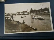 Postcard of River and Bridge, Kingston (1926 posted RP)