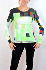 Custo Barcelona Multi Absract Top knit TEE T Shirt Stretch Pop ART Emo M Look
