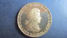Medaille Silber Österreich Salzburg 175. Geb. Mozart 1931 in vz sign. (N30)