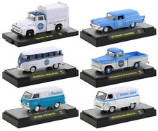"Auto Trucks Release 57, 6 Pc Set ""Pan Am"" 1/64 Diecast Cars M2 Machines 32500-57"