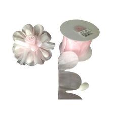 Pink flower PULL JORDAN ALMONDS CANDY BOW Ribbon decorations wedding favors -