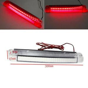 1210 Bulb Type White Shell Red 18 LED Car Tail Third Brake Light 12V 0.13A 5W