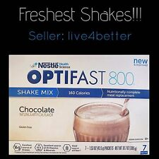 New Formula! OPTIFAST 800 CHOCOLATE POWDER SHAKES 84 SERVINGS PER CASE |NEW