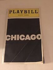 """Playbill """" Chicago"""" Shubert Theatre 1997 Signed By Cast Members"""