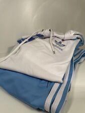 Adidas Trainingsanzug Herren Baby Blau 2 Teiler Hose und Hoodie Größe XL Jogger