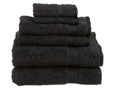 MARRIKAS 100% Egyptian Cotton QUALITY 6 Piece Towel Set BLACK