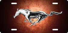 mustang horse orange new design Airbrushed car tag license plate 45