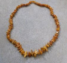 """NECKLACE FROM RUSSIAN BALTIC AMBER THE GRADE """"ROYAL"""" USSR 1930,Weight 120gr"""