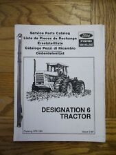 New Holland Designation 6 Tractor Service Parts Catalog