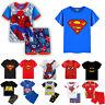 Toddler Kids Boy Cartoon T Shirt+Shorts Superhero Summer Shirts Tops Set Outfits