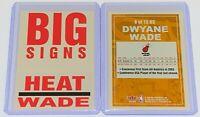 2003-04 Fleer Platinum Big Signs Dwyane Wade #8BS 🏀NBA Miami Heat Rookie Card🏀