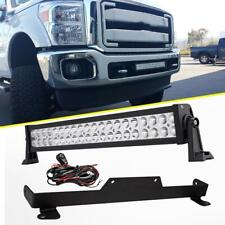 "22"" 280W LED Light Bar+Mount Brackets For 2011-2015 Ford F250/350 Super Duty 20"