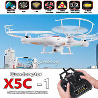 Syma Battery+Syma X5C-1 4CH 6 Axle RC Quadcopter Drone + 720P Camera Helicopter