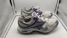 Reebok Easy Tone  Walking Fitness Shoes Silver Purple Sneakers Size 9.5