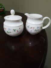 New listing Expressions English China Strawberry Fayre Creamer & Sugar Bowl