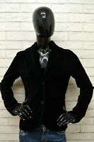 Giacca DIVIDED Donna Taglia 40 Maglia Blazer Jacket Woman Cotone Elastico Nero