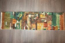 "John Piper original green ""Stones of Bath"" cotton fabric panel length fabric"