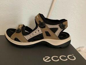 NIB WOMEN ECCO SANDALS/FOOTWEAR YUCATAN OFFROAD (BIRCH) EU40/9-9.5