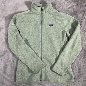 Patagonia Women's Full Zip Fleece Lined Green Jacket Size Large