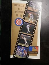 1994 Chicago Cubs Media Guide stats pictures vintage baseball book Wrigley field