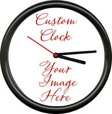 Personalized Custom Image Your Logo Or Design Any Photo Or Text Gift Wall Clock