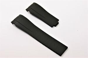 Uhrenarmband kautschuk 21 mm Schwarz für Rolex Daytona Submariner Rubber