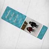 Personalised Bookmark - Hatched Pattern with any Text and Photo