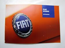 FIAT SCUDO Guide Operating Instructions 60383048