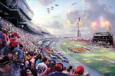 Thomas Kinkade DAYTONA NASCAR Thunder 18x27 G/P Limited Edition Lithograph Art