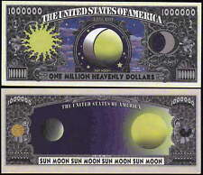 Sun and Moon Million Dollar Bill Collectible Fake Play Funny Money Novelty Note