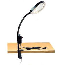 100-240V 8X Clip-on Desktop Magnifier LED Lighted Magnifying Glass Table Lamp