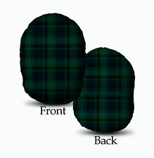 Blackwatch Tartan Schottenkaro Design Mushcush Oval Rundes Kissen
