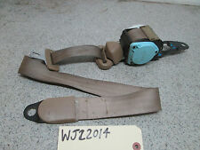 99 00 01 JEEP GRAND CHEROKEE LEFT FRONT SEAT BELT (driver seat) Camel (Tan)
