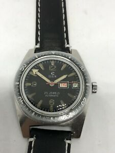 DIVER ELGIN M 135 AUTOMATIC 25 JEWELS  VERY RARE