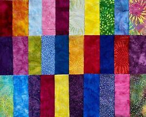 """Assorted Batiks Fabric 30 Piece Charm Pack 5"""" Squares Quilt Shop Quality Cotton"""