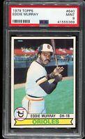 1979 Topps Baseball #640 EDDIE MURRAY Baltimore Orioles PSA 9 MINT