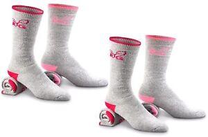 4 All Season Ladies' Crew Boot Socks Shoe 6-9 ~ New