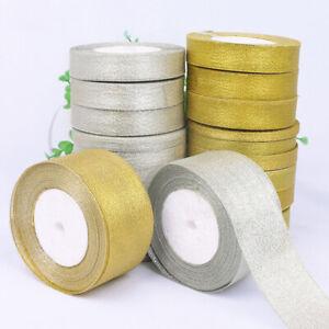 0.6-5CM Silk Satin Organza Ribbon Glitter Ribbons Wedding Cake Gift Decor DIY