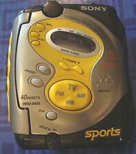 Sony Sport Walkman WM-FS221 FM/AM Digital Radio Cassette Clip On 40 Presets