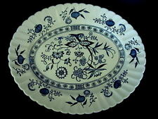 """Classic J.&G. MEAKIN Cobalt Blue Nordic Pattern 12"""" Oval Platter-Made in England"""