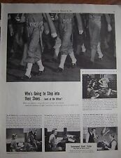 1942 WWII Underwood Elliott Fisher Typewriter Military Soldiers Step in Shoes Ad