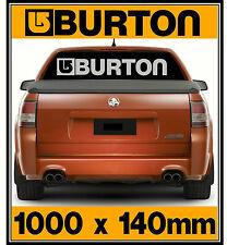 Huge Burton Car, Windscreen, Tailgate, Wall, Mirror, Sticker Decal 1000 x 140mm