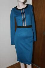 KARDASHIAN KOLLECTION BEADDED DETAIL DRESS CELESTIAL BLUE COLOR SIZE XS