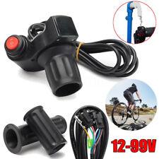 12V - 99V Electric Scooter Bike E-Bike Handlebar LED Throttle Grip Digital Meter
