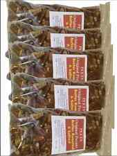 5- 7-OZ BAGS OF PECANS BUTTER  FLAVORED ROASTED AND SALTED--NO SUGAR-WORLDS BEST